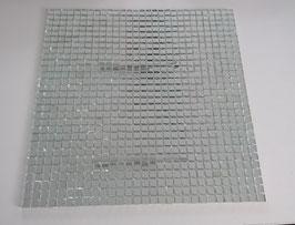 Spiegelmosaik 10x10mm auf Netz