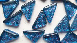 Soft Glas Glitter Dreiecke blau-rot