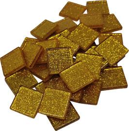 Soft Glas Glitter gold 20x20 mm