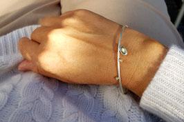 Labradorit-Perl-Armreif 14kt Gold, Silber