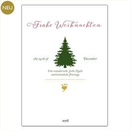 Frohe Weihnachten - Tannenbaum Grafik