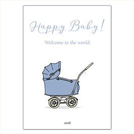 Happy Baby - Kinderwagen blau