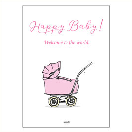Happy Baby - Kinderwagen rosa