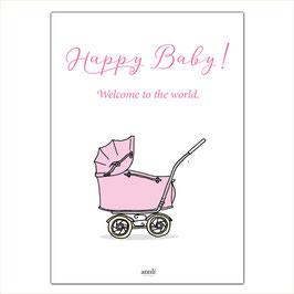 Happy Baby - Kinderwagen rosa