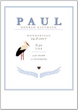 """Wandbild """"Paul"""" zur Geburt"""