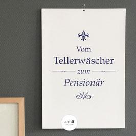 Vom Tellerwäscher zum Pensionär