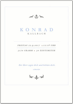 "Wandbild ""Konrad"" zur Geburt"