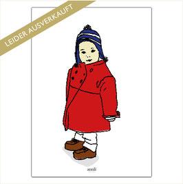 Mädchen mit rotem Mantel