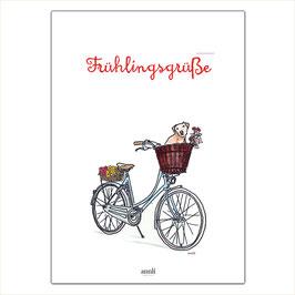 Frühlingsgrüße - Fahrrad