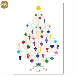 Bunter Weihnachtsbaum - Grafik