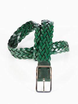 Herrengürtel geflochten grün
