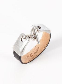 Armband mit Steckverschluss schwarz