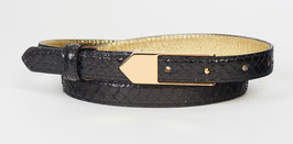 Narrow belt with golden buckle