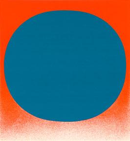 """Rupprecht Geiger, """"Blau auf Orange"""""""