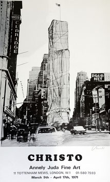 "Christo, ""Wrapped Building - Times Square"""