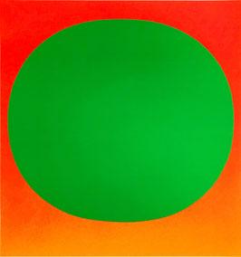 """Rupprecht Geiger, """"Grün auf Orange"""""""