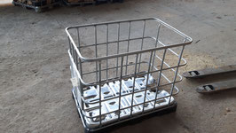 IBC Box klein auf Stahl- oder Kunststoffpalette