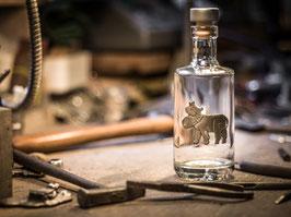 Flasche Kuh mit Glocke