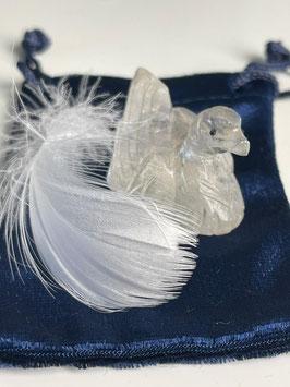 Krafttier Ente aus Bergkristall