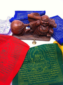 Tibetische Gebetsfahne Medizin Buddha Abbildung