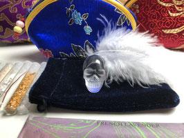 Reiseset Mini Kristallschädel