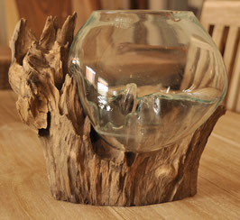 (8) Root glass object, standing, medium size