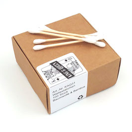 Wattestäbchen Bambus/Baumwolle 100 Stück