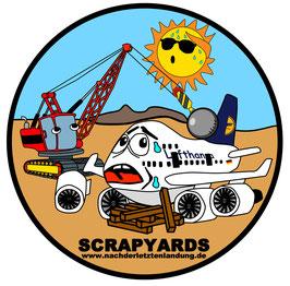 "Scrapyards Sticker ""Lufthansa 747 - Comic Style"""