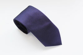 Corbata Puntitos Morado Raisin