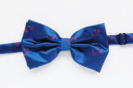 Pajarita Azul Satén Bicis Rosas