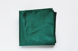 Pañuelo Tejido Círculos Verde oscuro