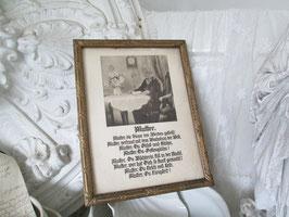 VINTAGE Antiker Holzrahmen&zauberhafter Druck MUTTER SHABBY♥