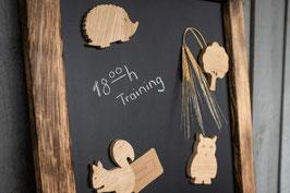 4 tierische Magnete, für Kinder aus Holz, Eule, Igel, Eichhörnchen, Baum