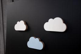 3 x Wolken Magnete / Pastellfarben