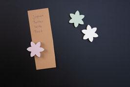 3 x Blumen - Magnete / Pastellfarben