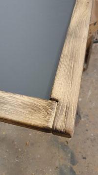 Magnetische Kreidetafel mit Holzrahmen - Eiche Altholz (geflammt)