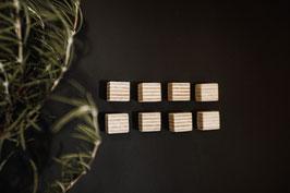 8 x kleine Holzmagnete für Magnettafel