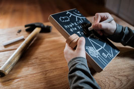 Kreidetafel Tablet für handschriftliche Notizen, TODO Liste oder als Wochenplaner, Tafel auch für Kinder