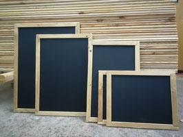 Kreidetafel / Wandtafel mit Holzrahmen in Fichte / Lärche Altholz