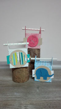 Strohhalm-Box Geburt/Taufe
