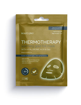 BeautyPro Thermotherapy Gold Foil Mask with Hyaluronic Acid and Q10