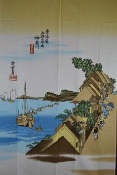 "Noren "" Ukiyoe-Kanagawa"", 150x85 cm"