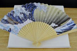 Sensu-Fächer-Hokusai-Die große Welle, 神奈川沖浪裏 Kanagawa oki nami ura
