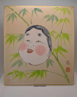 Maske im Bambus