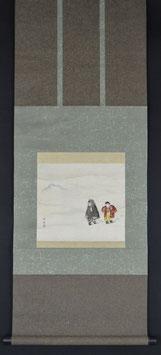 Zwei Kinder im Schnee von Katsuda