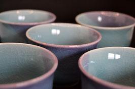 Yunomi 湯 の み- Sencha-Teeschalen, 5 Stück Set