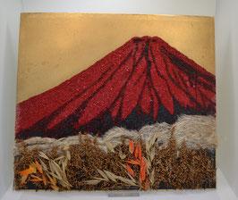 Red Fuji mit echten Gräsern
