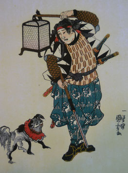 Samurai mit Hund