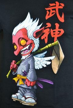 Tengu Shirt, schwarz, Größe M