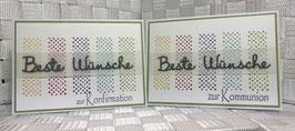 "Konfirmation/Kommunion ""Beste Wünsche"""